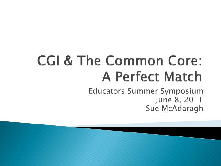 cgi the common core a perfect match n.