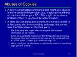 abuses of cookies