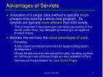advantages of servlets