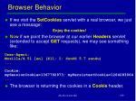 browser behavior