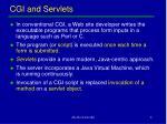 cgi and servlets