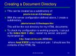 creating a document directory