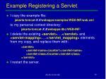 example registering a servlet