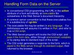 handling form data on the server