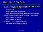 hello world cgi script