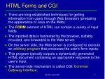 html forms and cgi