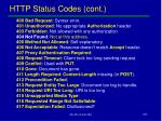 http status codes cont