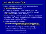 last modification date