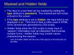 masked and hidden fields