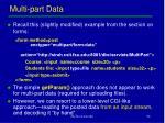 multi part data
