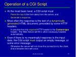 operation of a cgi script
