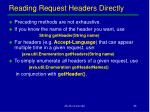 reading request headers directly