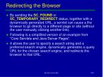 redirecting the browser