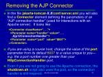 removing the ajp connector