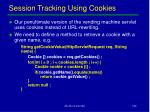 session tracking using cookies