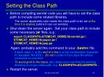 setting the class path