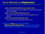 some methods on httpsession