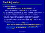 the init method