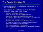the servlet cookie api