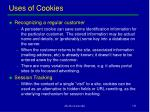 uses of cookies
