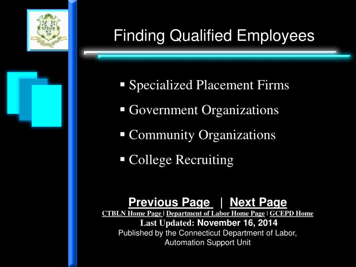 Finding Qualified Employees