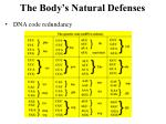 the body s natural defenses1