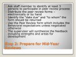 step 2 prepare for mid year reviews