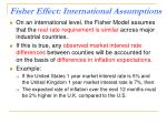 fisher effect international assumptions