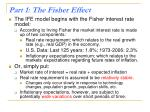 part 1 the fisher effect