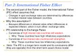 part 2 international fisher effect