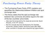 purchasing power parity theory