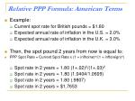 relative ppp formula american terms1