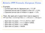 relative ppp formula european terms1