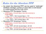 rules for the absolute ppp