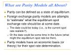 what are parity models all about