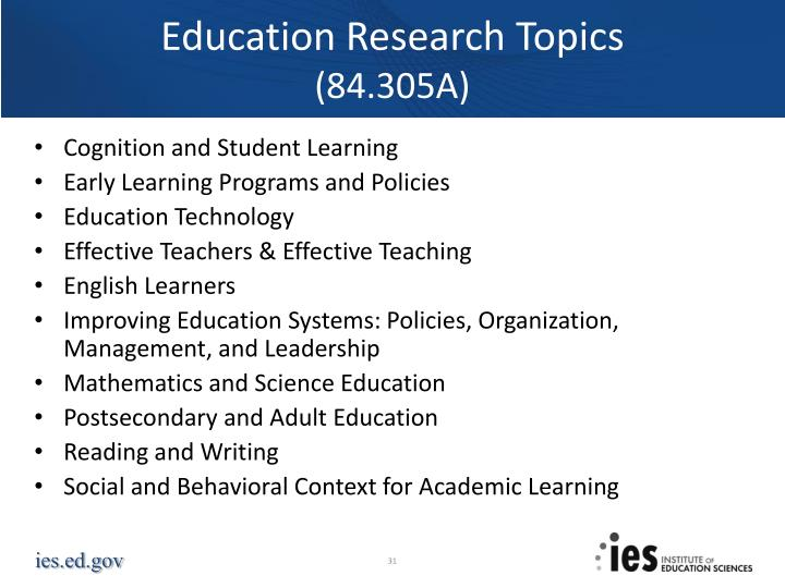 Education Research Topics