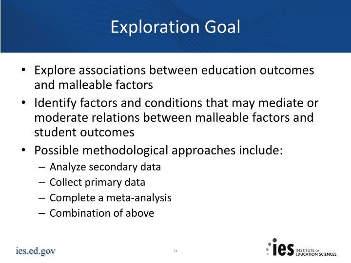 Exploration Goal