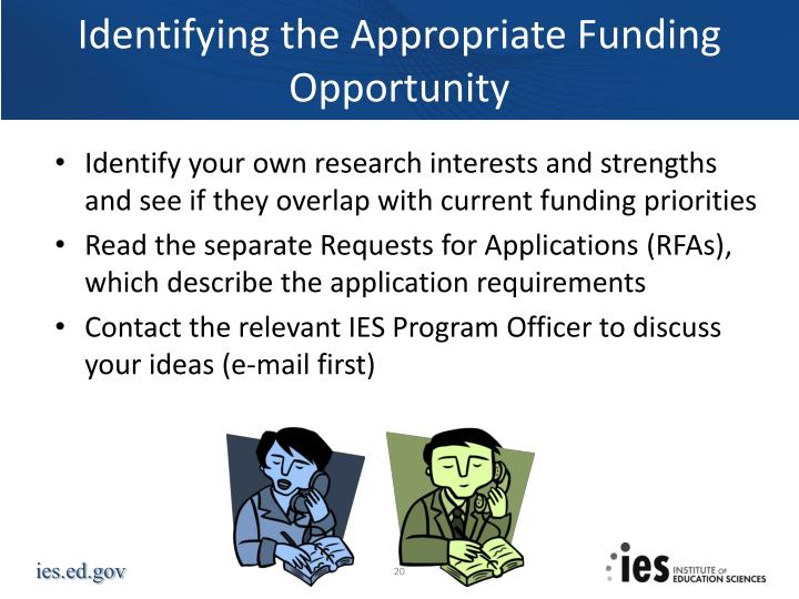 Identifying the Appropriate Funding Opportunity