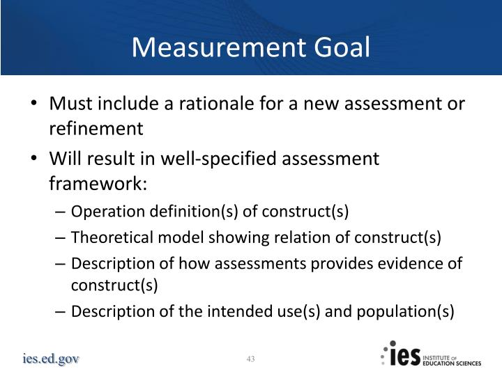 Measurement Goal
