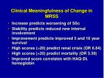 clinical meaningfulness of change in mrss