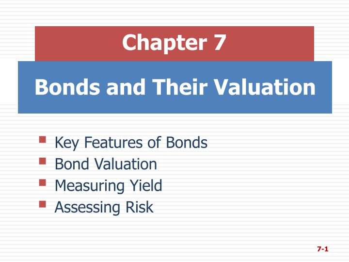 bonds and their valuation n.