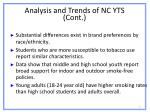 analysis and trends of nc yts cont