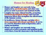 humor for healing