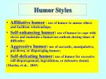 humor s tyles