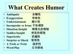 what creates humor