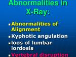 abnormalities in x ray