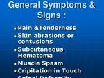general symptoms signs1
