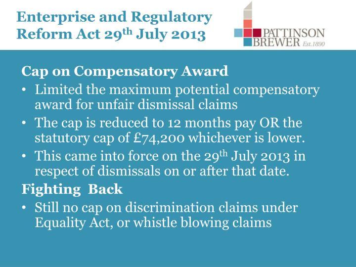 Enterprise and Regulatory Reform