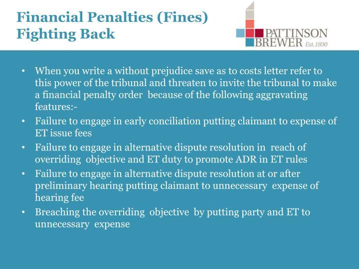 Financial Penalties (Fines) Fighting Back
