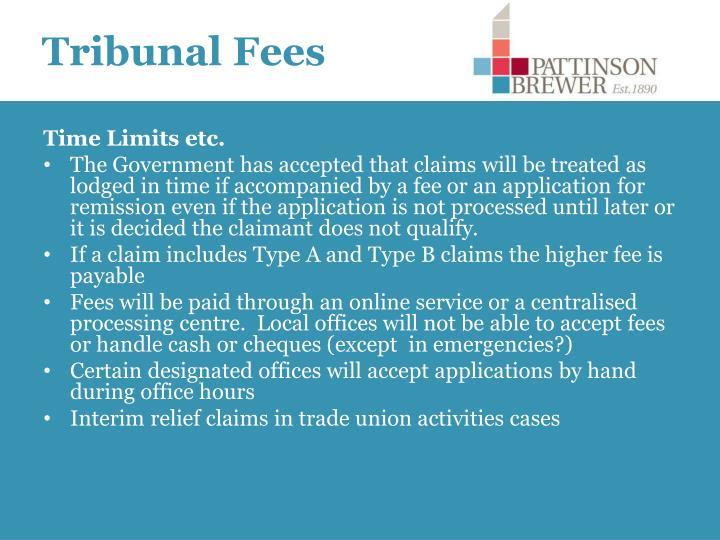 Tribunal Fees